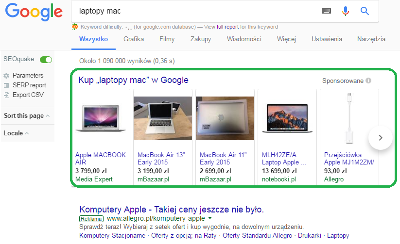 PLA - reklama produktowa w Google Adwords